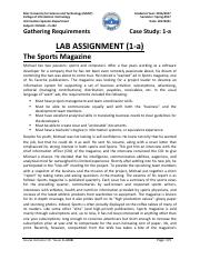 IS 322 LAB Assignment 1-a Sol 20170221