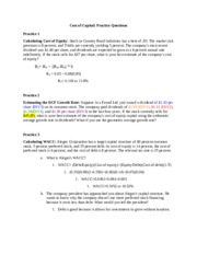 Example Problems; Chapter 1 & 2