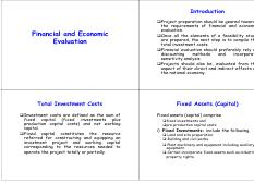 project management - Financial and Economic Evaluation.pdf