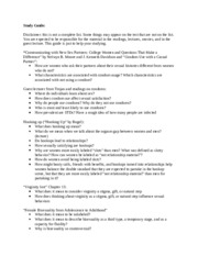 Study Guide for Second Test