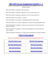 NRS 410V Course Assignments Module 1 - 5