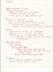 HUM DEV 210 Lecture Notes on Middle Childhood Ages 7 to 11