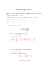 Lecture 21 Worksheet Solution
