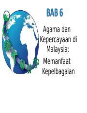 Hubungan Etnik Agama Sem 2 2018 Bab 6 Powerpoint Ppt Agama Dan Kepercayaan Di Malaysia Memanfaat Kepelbagaian Hasil Pembelajaran Selepas Mempelajari Course Hero