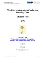 Flya Kite - Independent Production Planning Case - Student Text