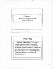 Ch.1 Auditing, Assurance, and Internal Control