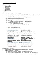 Management of HIV