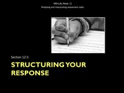 12.5 Structuring your response