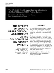 The Effects of Specific Upper Cervical Adjustments on the CD4 Counts of HIV Positive Patients