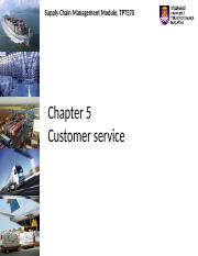 Chapter 5  Customer Service