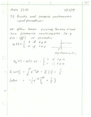 Periodic and Piecewise Continuous Functions Review