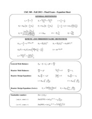 ChE 348 Final Exam F13 with notes sheet-2