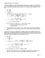 Additional Hypothesis Test Problems