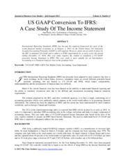 US GAAP Conversion to IFRS - Case Study in Income Statement