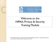 Annual HIPAA Training current