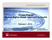 LECTURE 5 - Human Rights-Based Approach to Health