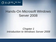Chapter 1 - Intro to Windows Networking