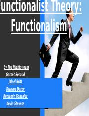 Functionalist Theory Powerpoint 2