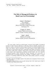 (510221657) The Role of Managerial Prudence in Bank Loan Loss