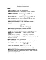 Physics 101 Fall 2009 Notes & Homework Solutions
