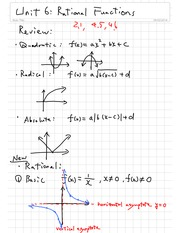 Rational Function Notes