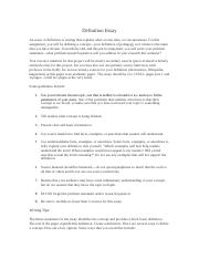 Assignment Definition Essay(1)