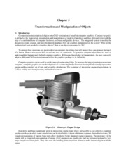 ME 447 - Chapter 3 Transformation and Manipulation of Objects
