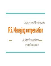 Notes IR5 - Motivationa and Compensation - Part 2.pdf