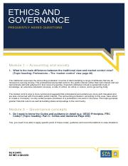 Ethics and Governance Frequently Asked Questions