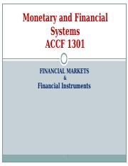 Financial Markets & Fin. Instruments.ppt
