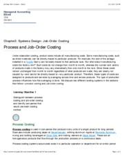 Process and Job-Order Costing