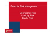 W8 Lecture Operational Liquidity and Model Risk