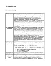 ECO 507 Final Study Guide.docx