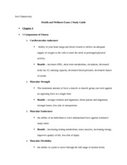 Health Test 2 Study Guide