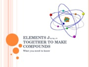 Elements & Compounds Review