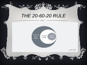 The 20-60-20 rule