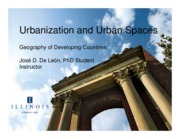 L16 - Urbanization and Urban Spaces