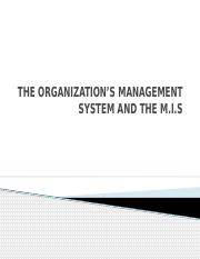 THE ORGANIZATION'S MANAGEMENT SYSTEM lesson four.pptx