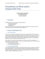 Foundations on Weak and:or Compressible Soils Review
