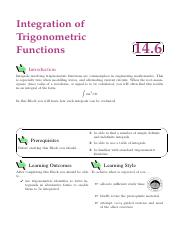 intergration trigonomectric functions
