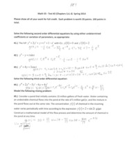 Math 55 Test #2 (Chapters 3,4,6) Spring 2014 SOLUTIONS