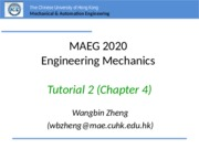 MAEG2020 Tutorial 2