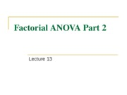 Lecture 13 Factorial ANOVA II