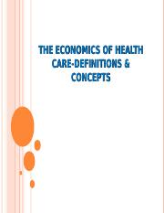 Health economics and development