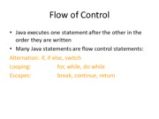 CSCI 4191 Flow of Control