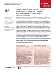 Determinants of Tak ful and conventional insurance demand A regional analysis.pdf