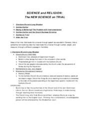 17. October 31 - Science and Religion - The New Science on Trial (2)