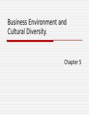 Business Environment and Cultural Diversity5