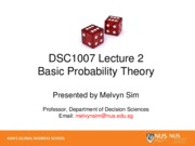 2-Probability Theory notes