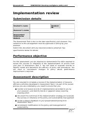 BSBSUS501 - Assessment Task 3.docx